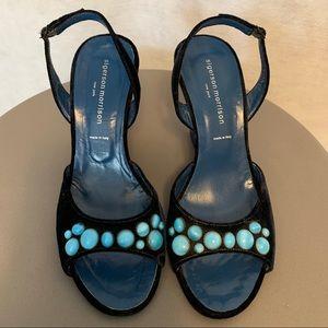 Sigerson Morrison Vintage Wedge Heels. Size 7.5 B